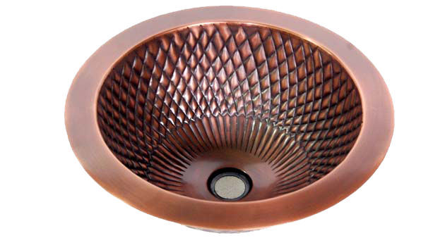 Copper Bar Round Sinks